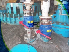 Ceramic ball valve for HCL gas