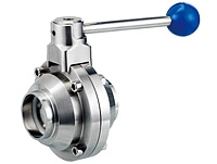 Butterfly type sanitary ball valve by YFL