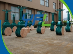 Large size Teflon lined gate valve