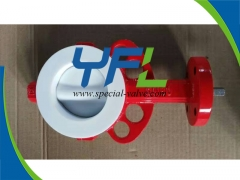 GGG40 Body PTFE Lined butterfly valve