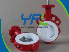 Split Body PTFE Lined butterfly valve
