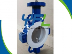 Wafer PTFE Lined butterfly valve