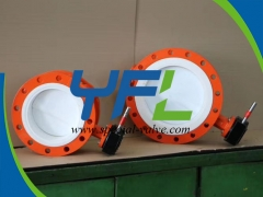 Flanged Fully PTFE Lined butterfly valve