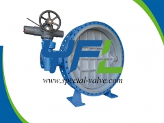 Large size FEP  Lined butterfly valve