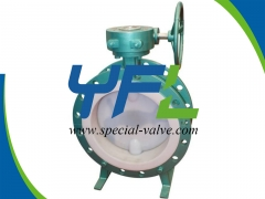 WCB body PFA Lined butterfly valve
