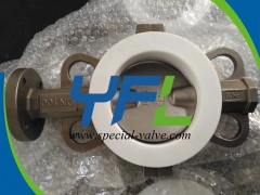 PN16 DN100PTFE  Lined butterfly valve