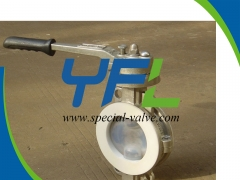 Lever Operated PFA Lined butterfly valve