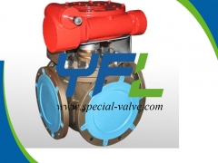 T Type Four Way Plug Valve by YFL