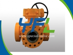 Gear Operated Four Way Plug Valve by YFL
