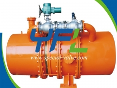 Hydraulic Butterfly Valve With Bypass System by YFL