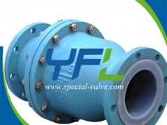 FEP Lined Flanged Swing Check Valve