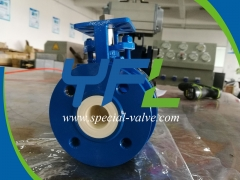 ceramic V- notch ball valve for catalyst slurry