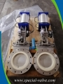 Pneumatic Ceramic Knife Gate Valve for SiO2 Powder