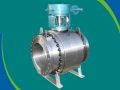 Gear operated CF8M Metal Seated Ball Valve
