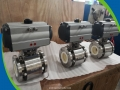 150LBS 3'' F316L Pneumatic Ceramic Lined Ball Valves