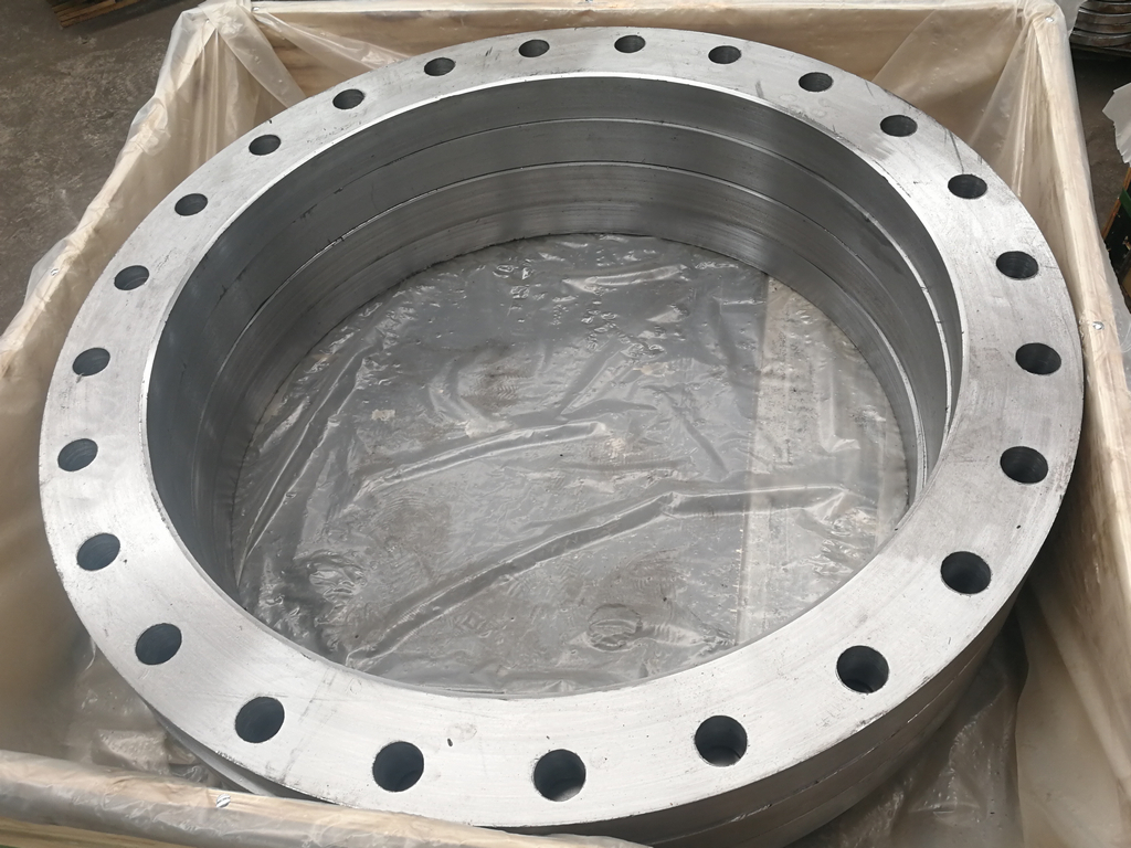 3745pcs of A105 plate flanges exported to Peru