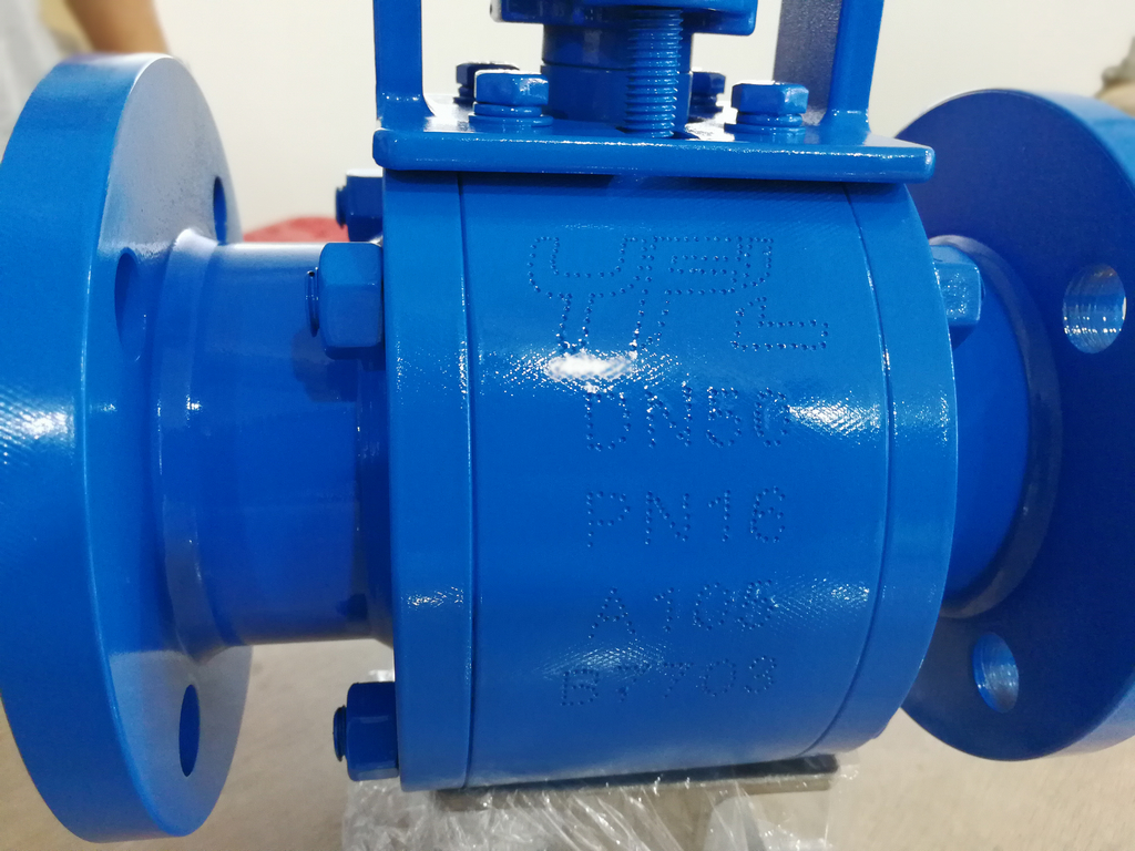 Ceramic ball valve for Mining industry with through holes flanges