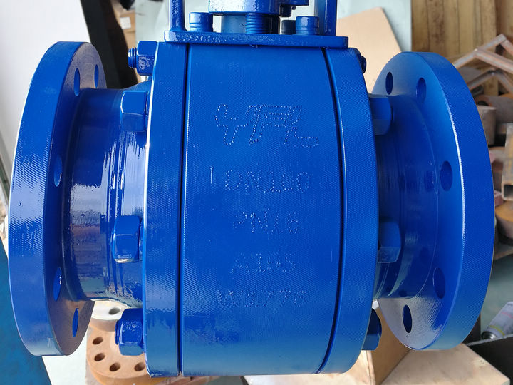 PN16 DN100 Ceramic Ball Valve  for Nickel refinery with longer face to face