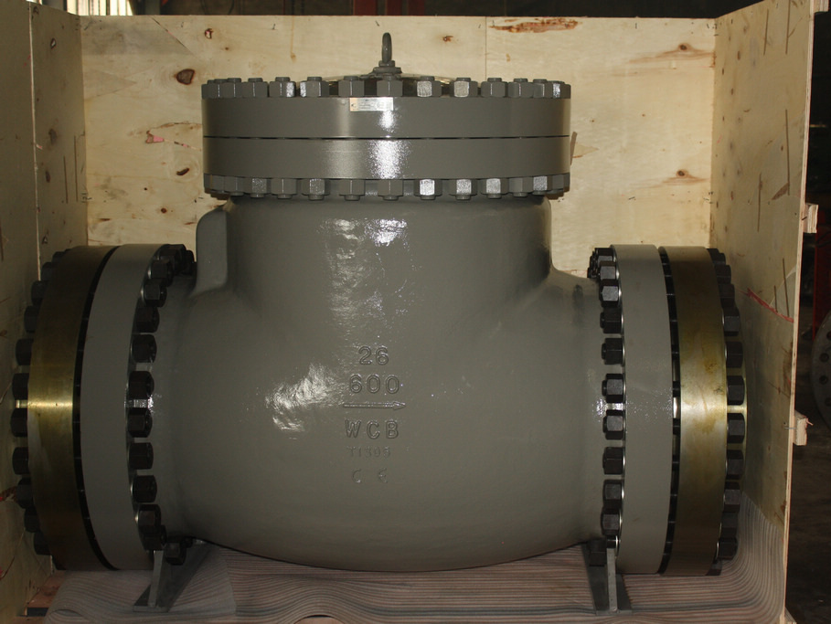 API 6D 600lbs 26 in  Flanged Swing check valve with counterflanges exported to Germany