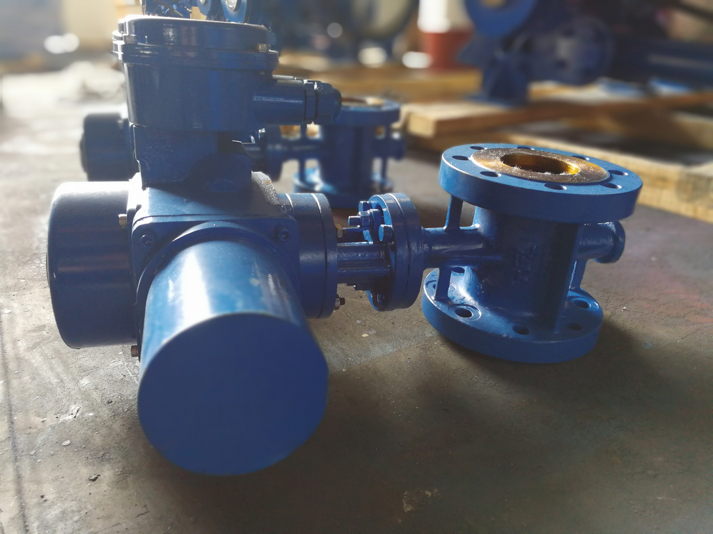 Electric actuated butterfly valves exported to Georgia