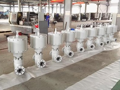 Pneumatic actuated API 6A Gate valve ready to be shipped to USA