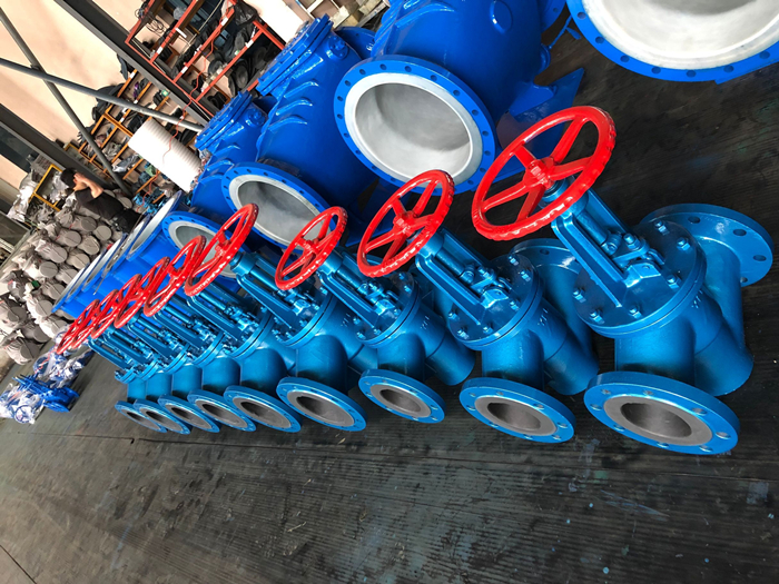 Rubber lined globe valve for corrosive service exported to Hungary