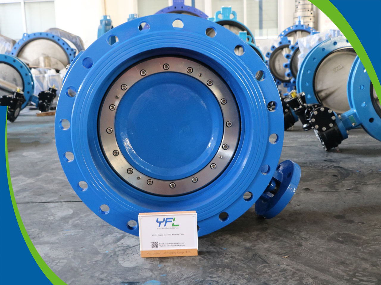 EN593 GGG40 Double eccentric butterfly valves exported to Peru