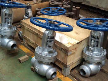 900lbs BW gate valves and globe valves with X-ray test report