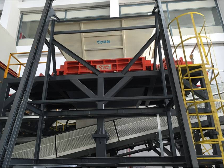 MSW bulky waste primary shredder for Xiangan MSW incineration plant